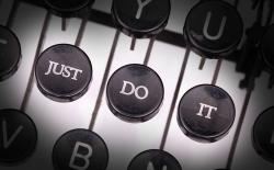 just do it typewriter